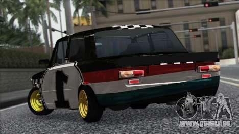 VAZ 2101 ist ein Rennwagen für GTA San Andreas Rückansicht