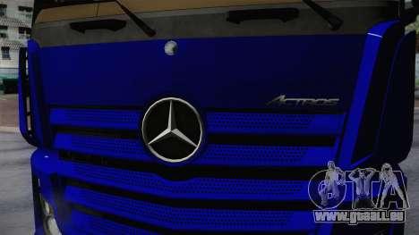 Mercedes-Benz Actros Mp4 v2.0 Tandem Steam für GTA San Andreas Rückansicht