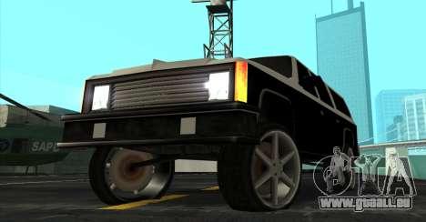 FBI Rancher Tuning pour GTA San Andreas vue de droite