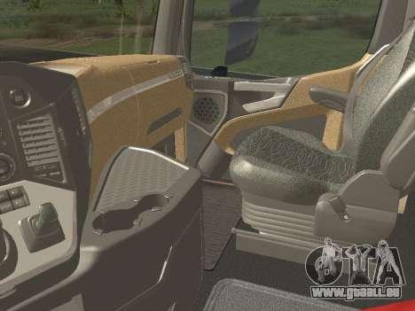 Mercedes-Benz Actros Mp4 6x4 v2.0 Bigspace pour GTA San Andreas vue arrière
