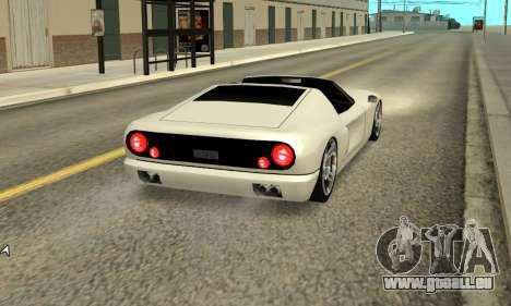 Bullet Spyder für GTA San Andreas zurück linke Ansicht