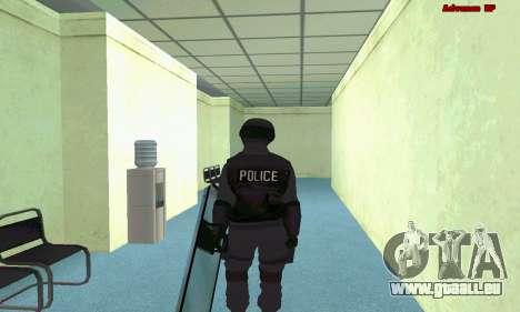La peau de SWAT GTA 5 (PS3) pour GTA San Andreas quatrième écran