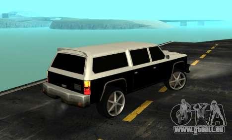 FBI Rancher Tuning pour GTA San Andreas laissé vue