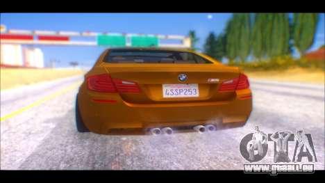 BMW M5 F10 2014 pour GTA San Andreas laissé vue