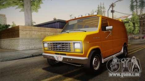 Ford E-150 Commercial Van 1982 2.0 IVF pour GTA San Andreas vue intérieure