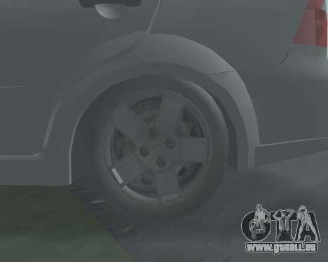 Chevrolet Aveo Armenian pour GTA San Andreas vue intérieure