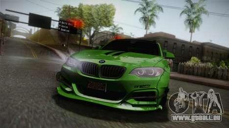 BMW M235i 69Works für GTA San Andreas obere Ansicht
