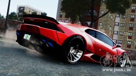 Lamborghini Huracan LB pour GTA 4 est une gauche