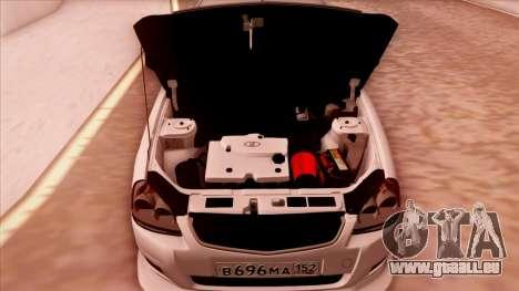 Lada Priora Autozvuk v.1 pour GTA San Andreas vue arrière