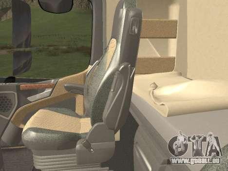 Mercedes-Benz Actros Mp4 6x4 v2.0 Steamspace v2 pour GTA San Andreas salon