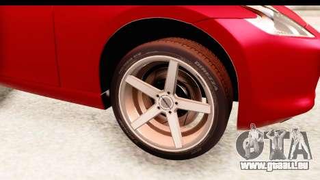 Nissan 370Z 2010 für GTA San Andreas Rückansicht