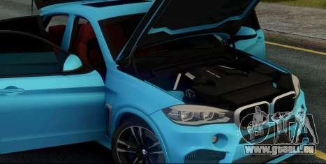 BMW X6M F86 pour GTA San Andreas vue intérieure