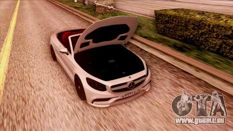 Mercedes-Benz S63 pour GTA San Andreas vue arrière