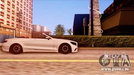Mercedes-Benz S63 pour GTA San Andreas laissé vue