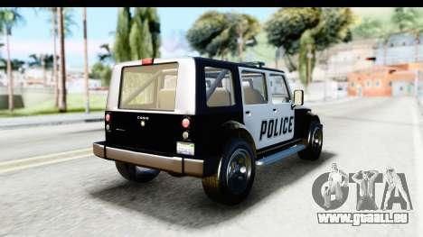 Canis Mesa Police für GTA San Andreas linke Ansicht