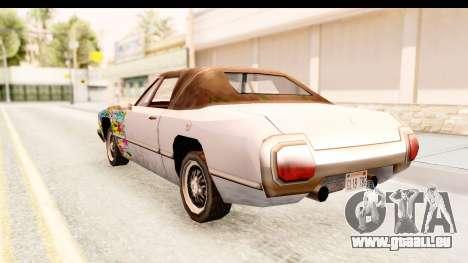 Stallion Sticker Bomb pour GTA San Andreas sur la vue arrière gauche