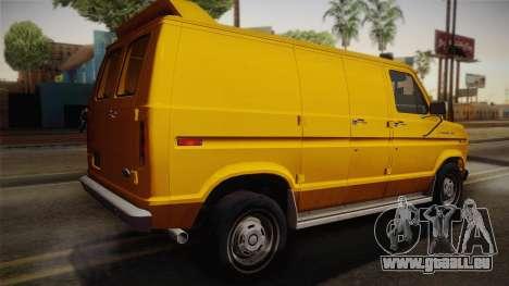 Ford E-150 Commercial Van 1982 2.0 IVF pour GTA San Andreas laissé vue