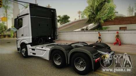 Mercedes-Benz Actros Mp4 6x4 v2.0 Steamspace v2 pour GTA San Andreas laissé vue