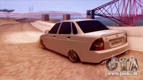 Lada Priora Autozvuk v.1 pour GTA San Andreas laissé vue