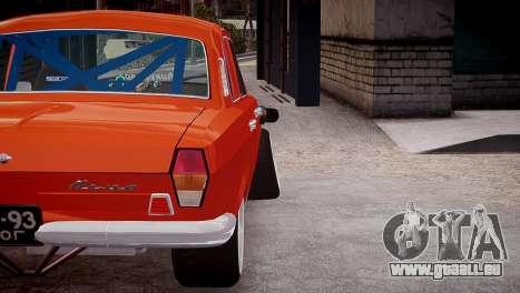 GAZ 24 pour GTA 4 est une vue de l'intérieur