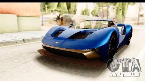 GTA 5 Vapid FMJ SA Style pour GTA San Andreas sur la vue arrière gauche