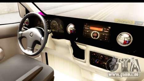 Nissan NV350 Urvan Comercial Mexicana pour GTA San Andreas vue intérieure