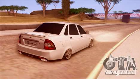 Lada Priora Autozvuk v.1 pour GTA San Andreas sur la vue arrière gauche