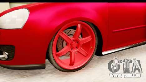 Volkswagen Golf GTI pour GTA San Andreas vue arrière