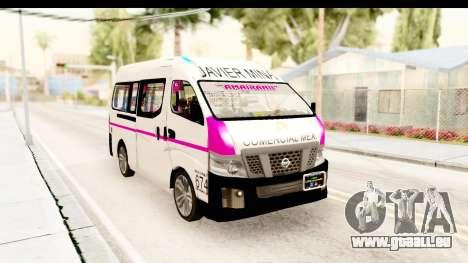 Nissan NV350 Urvan Comercial Mexicana pour GTA San Andreas