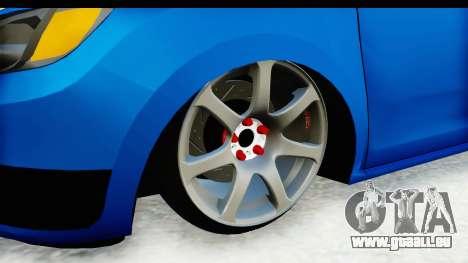 Dacia Sandero 2013 pour GTA San Andreas vue arrière