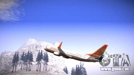 Boeing 737-800 Jeju Air für GTA San Andreas linke Ansicht