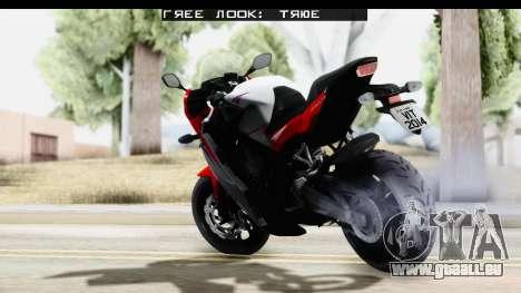 Honda CBR650F pour GTA San Andreas laissé vue