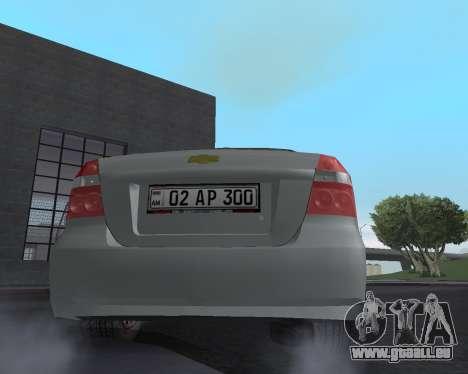 Chevrolet Aveo Armenian pour GTA San Andreas moteur