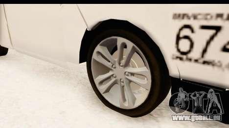 Nissan NV350 Urvan Comercial Mexicana pour GTA San Andreas vue arrière