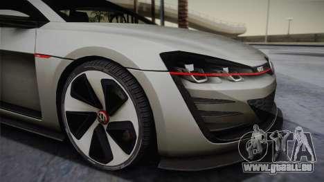Volkswagen Golf Design Vision GTI pour GTA San Andreas sur la vue arrière gauche