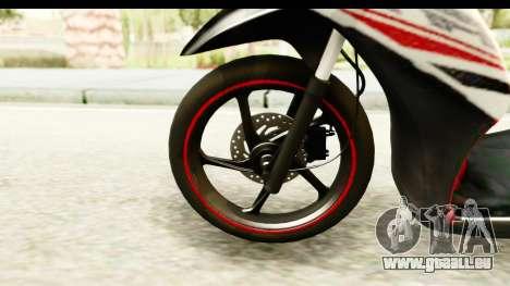 Yamaha Mio GT Standart für GTA San Andreas Rückansicht