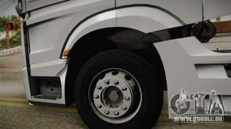 Mercedes-Benz Actros Mp4 6x4 v2.0 Steamspace v2 pour GTA San Andreas vue arrière