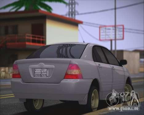 Toyota Corolla 120 für GTA San Andreas linke Ansicht