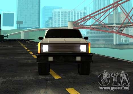 FBI Rancher Tuning pour GTA San Andreas sur la vue arrière gauche