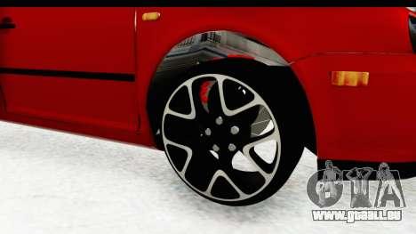 Volkswagen Golf Mk4 Pickup pour GTA San Andreas vue arrière