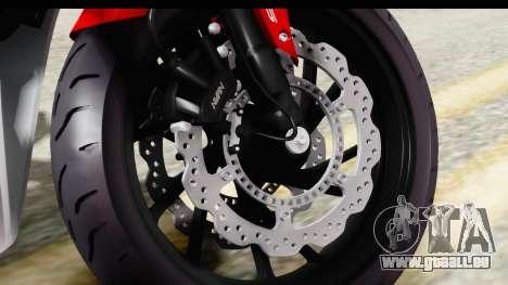 Honda CBR650F pour GTA San Andreas vue arrière