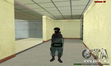 La peau de SWAT GTA 5 pour GTA San Andreas huitième écran