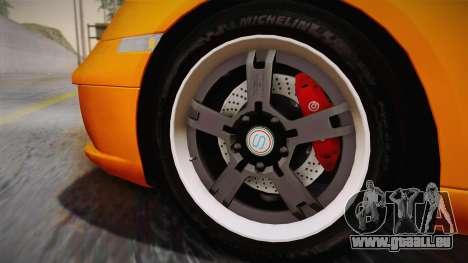 Ruf RK Coupe (987) 2007 IVF für GTA San Andreas zurück linke Ansicht