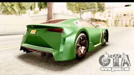 GTA 5 Emperor ETR1 pour GTA San Andreas laissé vue
