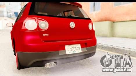 Volkswagen Golf GTI für GTA San Andreas obere Ansicht