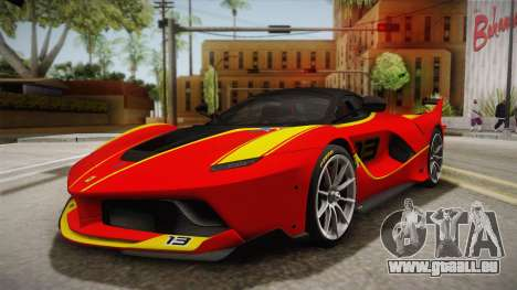 Ferrari FXX-K 2015 für GTA San Andreas Seitenansicht