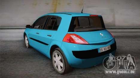 Renault Megane 2 Hatchback v2 pour GTA San Andreas laissé vue