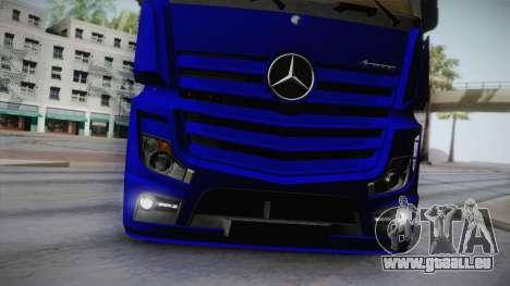 Mercedes-Benz Actros Mp4 v2.0 Tandem Steam für GTA San Andreas Seitenansicht
