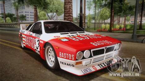 Lancia Rally 037 Stradale (SE037) 1982 Dirt PJ2 pour GTA San Andreas laissé vue