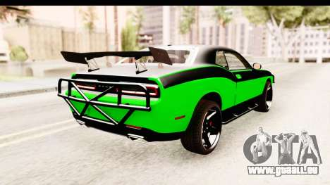 Dodge Challenger F&F 7 für GTA San Andreas rechten Ansicht